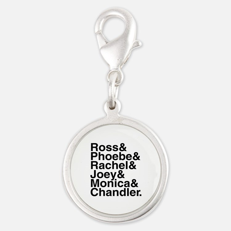 Friends Name List Silver Round Charm