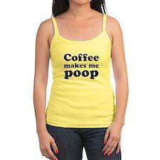 coffee makes me poop Jr.Spaghetti Strap