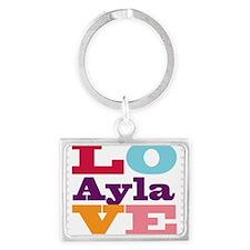 I Love Ayla Landscape Keychain