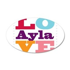 I Love Ayla Wall Decal