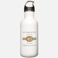 40th Birthday Authentic Water Bottle
