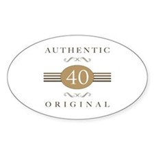40th Birthday Authentic Decal