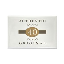 40th Birthday Authentic Rectangle Magnet