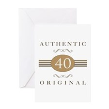 40th Birthday Authentic Greeting Card