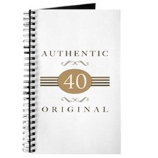 40th Birthday Authentic Journal