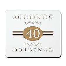 40th Birthday Authentic Mousepad