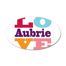 I Love Aubrie Wall Decal