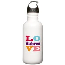 I Love Aubree Water Bottle