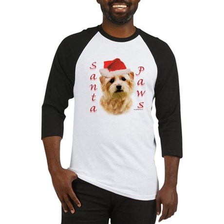 Santa Paws Norfolk Terrier Baseball Jersey