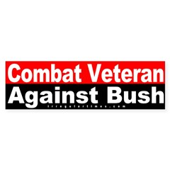 Combat Veteran Against Bush Bumper Sticker