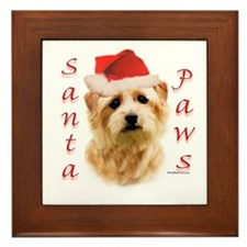 Santa Paws Norfolk Terrier Framed Tile