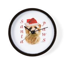 Santa Paws Norfolk Terrier Wall Clock