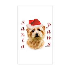 Santa Paws Norfolk Terrier Rectangle Decal