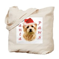 Santa Paws Norfolk Terrier Tote Bag