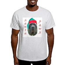 Santa Paws Neo Ash Grey T-Shirt