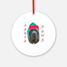 Santa Paws Neo Ornament (Round)