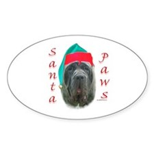 Santa Paws Neo Oval Decal