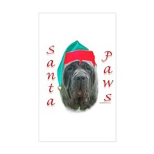 Santa Paws Neo Rectangle Decal