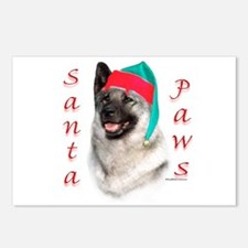 Santa Paws Elkhound Postcards (Package of 8)