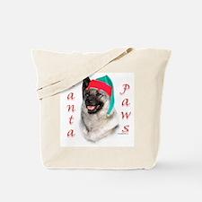 Santa Paws Elkhound Tote Bag