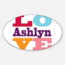 I Love Ashlyn Sticker (Oval)