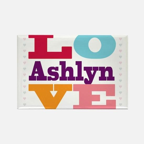 I Love Ashlyn Rectangle Magnet