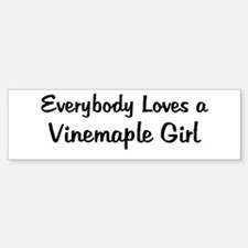 Vinemaple Girl Bumper Bumper Bumper Sticker