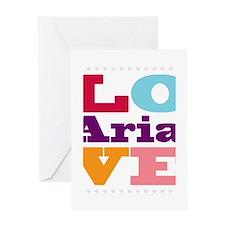 I Love Aria Greeting Card