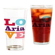 I Love Aria Drinking Glass