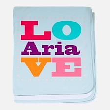 I Love Aria baby blanket