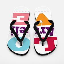 I Love Araceli Flip Flops