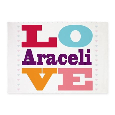 I Love Araceli 5'x7'Area Rug