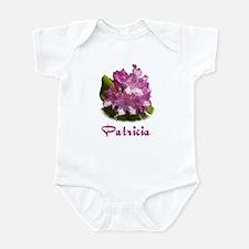 Patricia: Purple Flower Infant Bodysuit