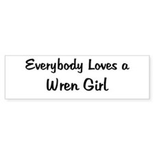 Wren Girl Bumper Bumper Sticker