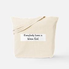 Wren Girl Tote Bag