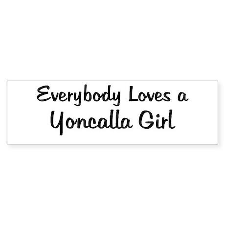 Yoncalla Girl Bumper Sticker