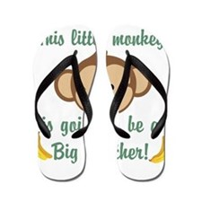 Big Brother To Be Monkey Flip Flops