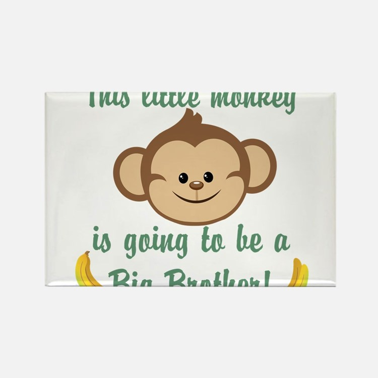 Big Brother To Be Monkey Rectangle Magnet