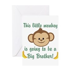 Big Brother To Be Monkey Greeting Card