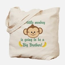 Big Brother To Be Monkey Tote Bag