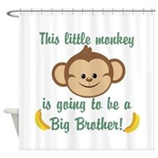 Big Brother To Be Monkey Shower Curtain