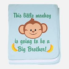 Big Brother To Be Monkey baby blanket