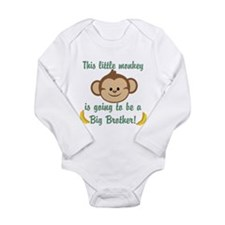 Big Brother To Be Monkey Long Sleeve Infant Bodysu