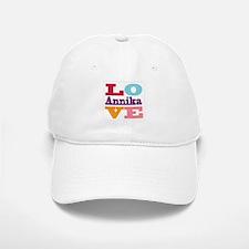 I Love Annika Baseball Baseball Cap