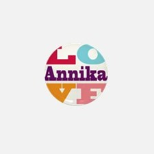 I Love Annika Mini Button