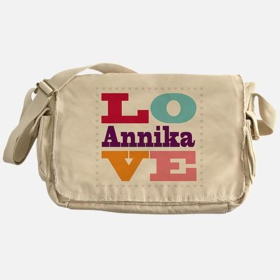 I Love Annika Messenger Bag