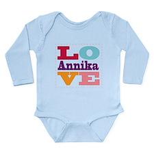I Love Annika Long Sleeve Infant Bodysuit