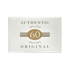 60th Birthday Authentic Rectangle Magnet (100 pack