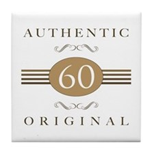 60th Birthday Authentic Tile Coaster