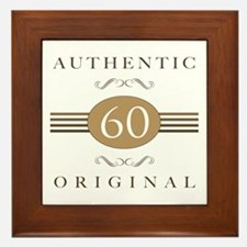 60th Birthday Authentic Framed Tile